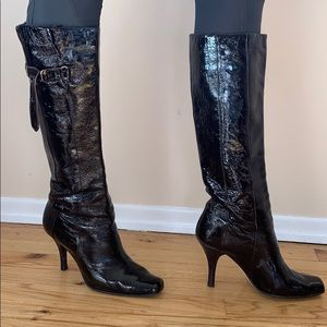 Jimmy Choo Brown Patent Leather Boots